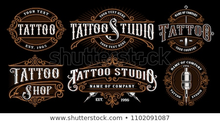 Bağbozumu dövme alışveriş eps 10 dizayn Stok fotoğraf © netkov1