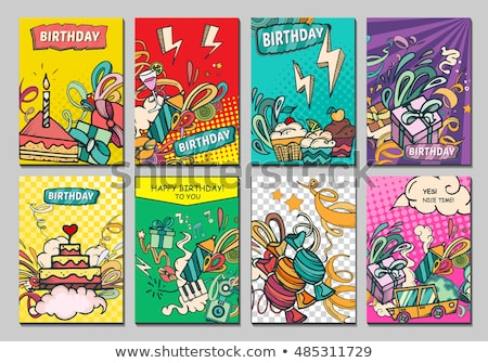 balloons set vector birthday holiday event elements decoration flying object color round present stock photo © pikepicture