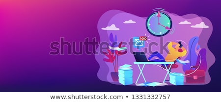 промедление баннер бизнесмен сидят ног Сток-фото © RAStudio