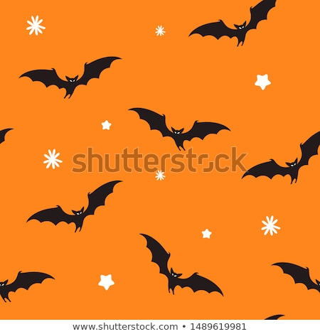 Zwarte halloween Geel decoraties veel papier Stockfoto © dolgachov