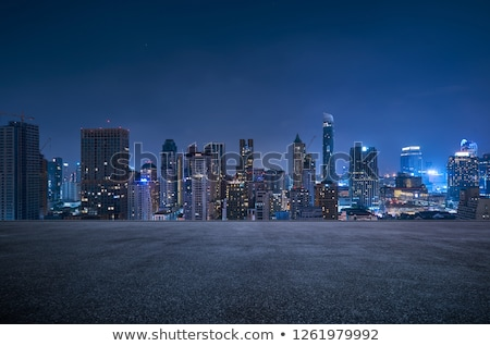 Night City scena domów budynków Błękitne niebo Tajwan Zdjęcia stock © elwynn