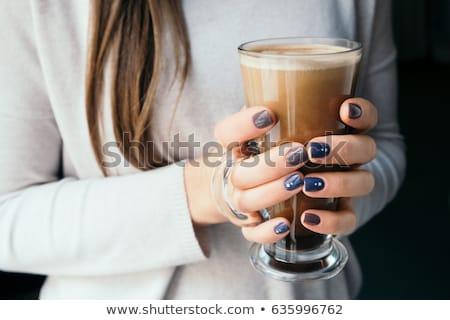 ストックフォト: クローズアップ · 美しい · 女性 · 手