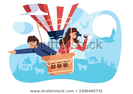 People hiring air balloon Stock photo © jossdiim