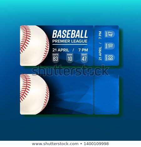 Jegy utalvány baseball vektor arany fehér Stock fotó © pikepicture