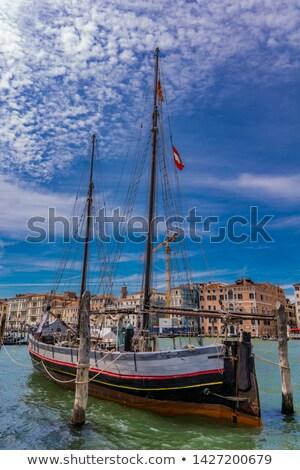 Oude zeilschip Venetië Italië reizen Stockfoto © boggy