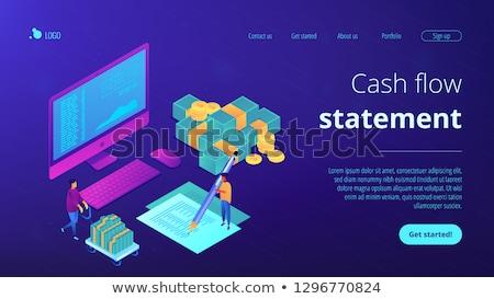 Przepływów pieniężnych app interfejs szablon finansowych analityk Zdjęcia stock © RAStudio