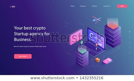 Digitale valuta app interface sjabloon zakenman Stockfoto © RAStudio