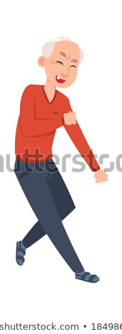 Elderly Dancers, Pensioners Moving, Dance Vector Stock photo © robuart
