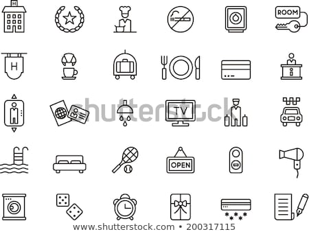 usługi · klimatyzator · wektora · cienki · line · ikona - zdjęcia stock © pikepicture
