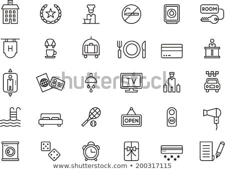 hizmet · klima · vektör · ince · hat · ikon - stok fotoğraf © pikepicture