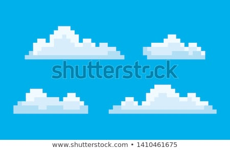 Clouds Pixel Game Graphics 8 Bit Sky Smoke Vector Stock photo © robuart