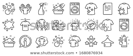 Laundry Service Dirty T-shirt Vector Line Icon Stock photo © pikepicture
