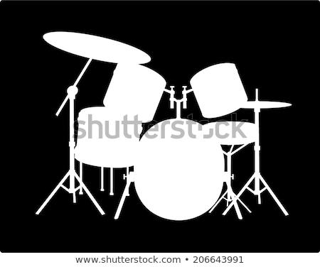 Nero silhouette installazione bianco rock Foto d'archivio © mayboro