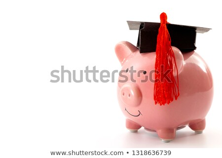 Close-up Of Piggybank With Graduation Cap Stock photo © AndreyPopov