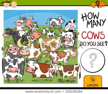 Indovinare cartoon animali della fattoria gioco bambini illustrazione Foto d'archivio © izakowski