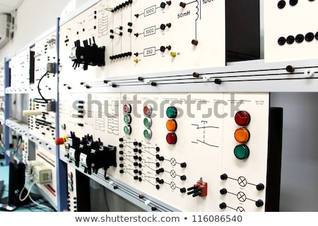 Stock photo: Control panels in an electronics lab