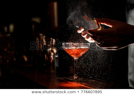 barman with cocktail drink Stock photo © Lopolo