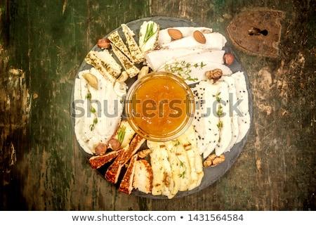 Mel branco prato comida festa fundo Foto stock © galitskaya