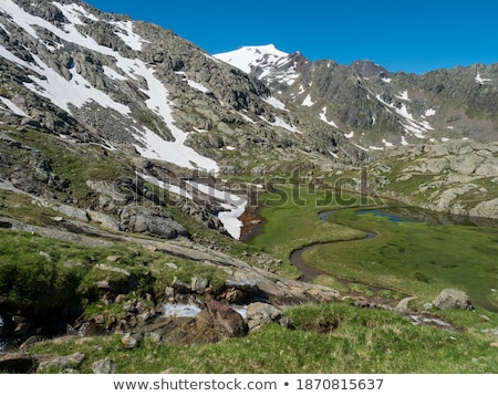 Scenic view of high mountain peaks in Tyrol, Austria. Stock photo © lichtmeister