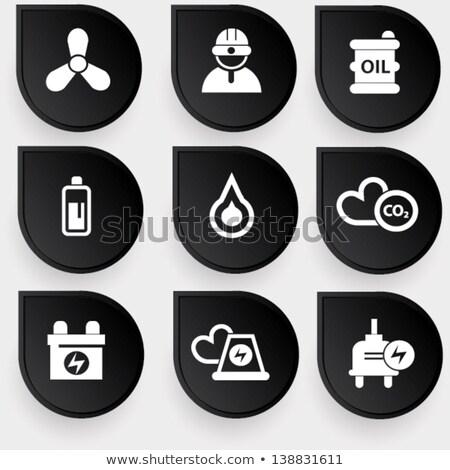 Riciclare simbolo batteria riciclaggio energie rinnovabili stock Foto d'archivio © kyryloff