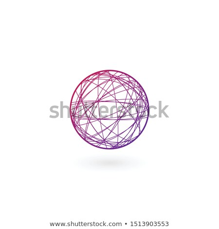 Clew ball chaos linear Logo template. Stock Vector illustration isolated on white background stock photo © kyryloff