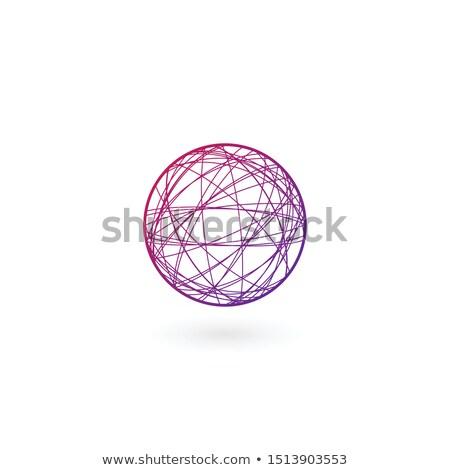 ボール · 混沌 · リニア · ロゴ · テンプレート · 在庫 - ストックフォト © kyryloff