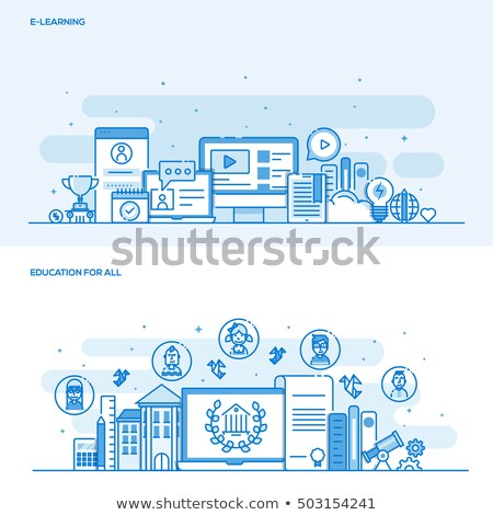 professional training   line design style icons set stock photo © decorwithme