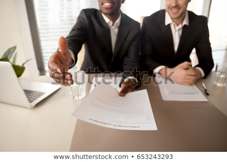 Successful employee getting new job position  Stock photo © Elnur