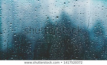 Regenachtig regendruppels venster naar Stockfoto © jsnover