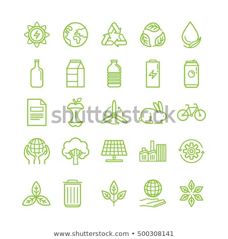 Plastic waste sorting - modern flat design style illustration Stock photo © Decorwithme