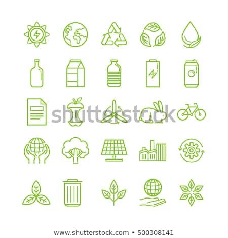 plastic waste sorting   modern flat design style illustration stock photo © decorwithme