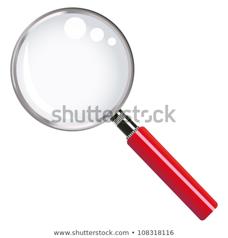Red magnifier Stock photo © cidepix