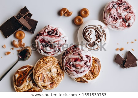 Meringue on a tray in pastry shop Stock photo © Kzenon