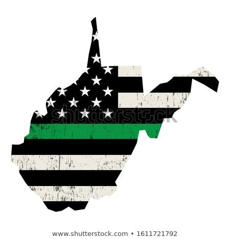 Виргиния военных поддержки американский флаг иллюстрация форма Сток-фото © enterlinedesign
