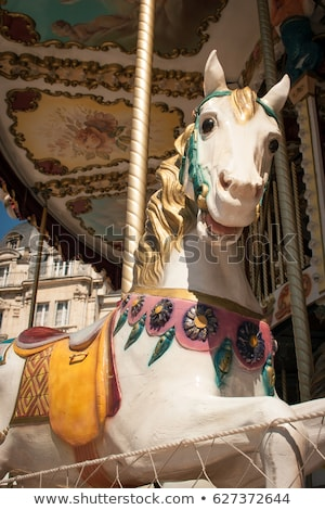 Details of Fairground Carousel Horse Stock photo © feverpitch