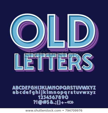 Klasszikus ódivatú betűtípus levél 3D 3d render Stock fotó © djmilic