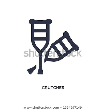 Hasta bacaklar rehabilitasyon vektör rahat Stok fotoğraf © pikepicture