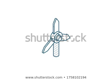 technical renewal of battery icon vector outline illustration Stock photo © pikepicture