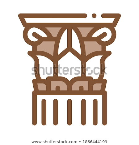 threaded greek column icon vector outline illustration Stock photo © pikepicture