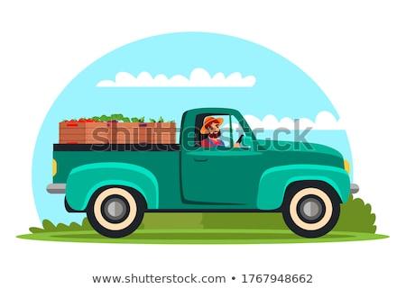 Farmer Harvesting on Field, Transporting Veggies Stock photo © robuart