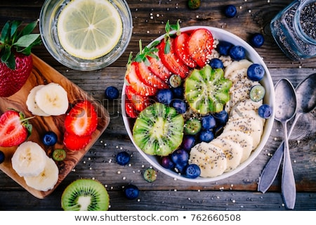 Healthy breakfast with granola and berries Stock photo © karandaev