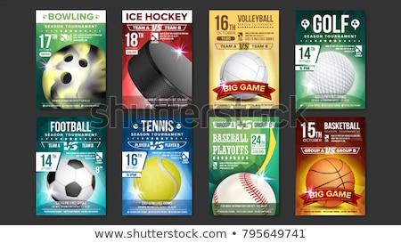バスケットボール スポーツ イベント チラシ ポスター セット ストックフォト © pikepicture