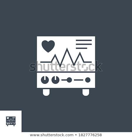 Electrocardiograma vector icono aislado blanco médicos Foto stock © smoki