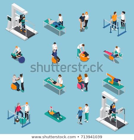 Physiothérapie isométrique vecteur Photo stock © pikepicture