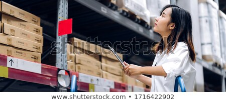 Portrait of asian warehouse manager and worker Stock photo © vichie81