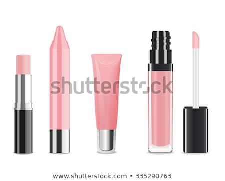 Femenino labios lápiz de labios brillo de labios maquillaje Foto stock © Anneleven