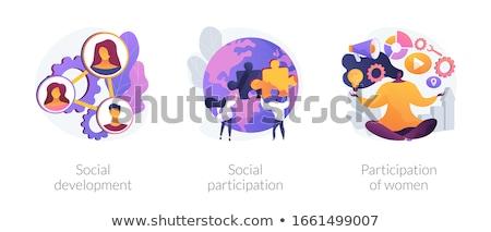 社会 参加 抽象的な エンゲージメント チームワーク 市民の ストックフォト © RAStudio