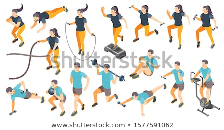 Jump Rope isometric icon vector illustration Stock photo © pikepicture
