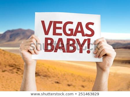 Vegas baby znak autostrady Chmura ulicy podpisania Zdjęcia stock © kbuntu