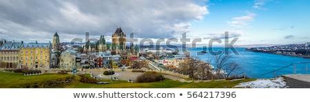 Daken Quebec stad detail huizen historisch Stockfoto © aladin66